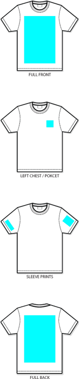 Screen printing areas for Local t shirt printing company